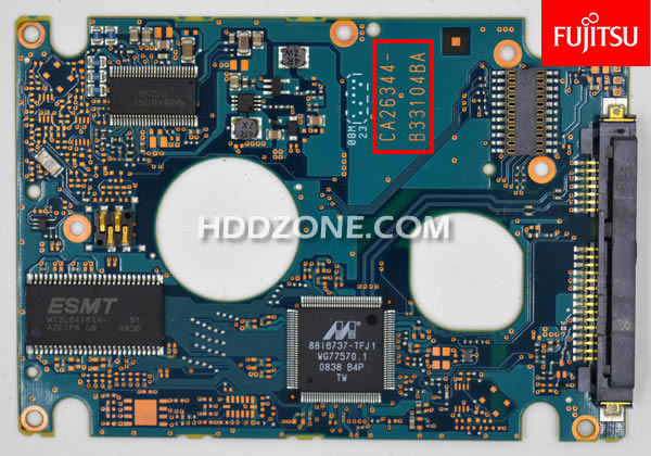 富士通のHDD基盤基板交換