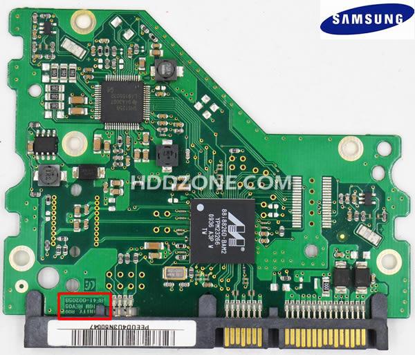 SamsungのHDD基盤基板交換